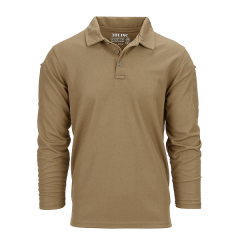 101-INC Tactical polo coyote Quick dry lange mouw