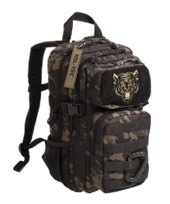Mil-Tec US assault kids rugtas dtc defence tactical camo black 14L